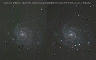 Supernova SN 2011fe in M101 Pinnweel Galaxy,